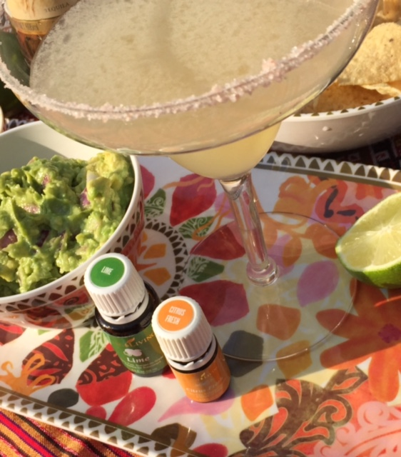 Citrus Fresh Margarita & Guacamole Recipe #essentialcocktail #youngliving