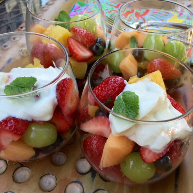 #EssentialCocktail Honey Rum Fruit Salad #yleo