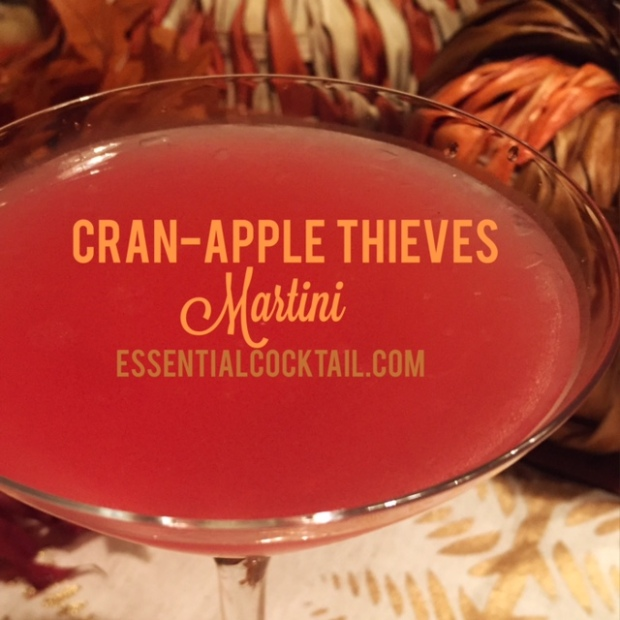 Cran-Apple Thieves Martini