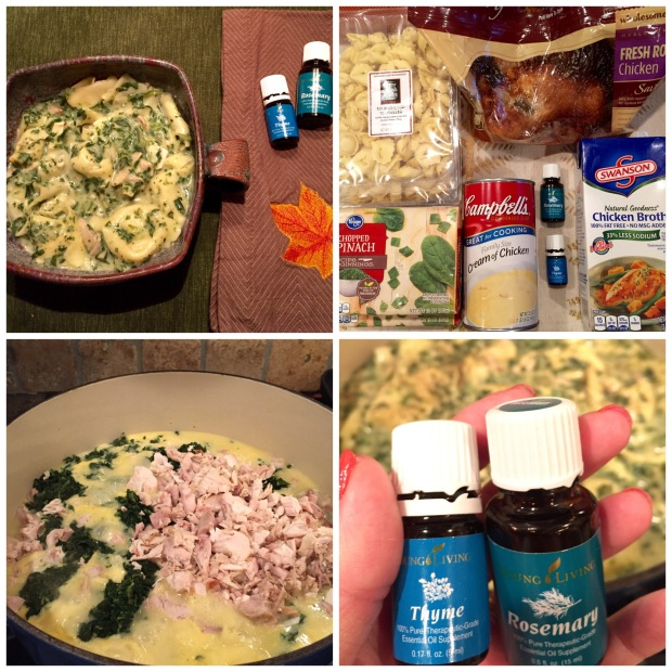 Creamy Chicken Spinach Tortellini Soup with Essential Oils